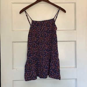 Mossimo Supply Co Floral Peplum Tank